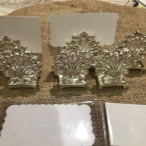 Silver-plated place card setting -  one set of 8